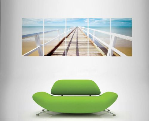5 Panoramic Multi Panel Canvas  Wall Art - The View